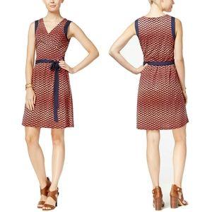 NWT Tommy Hilfiger Geo Print Wrap Dress PRICE FIRM